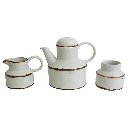 English Stoneware Serveware, 3-Pcs