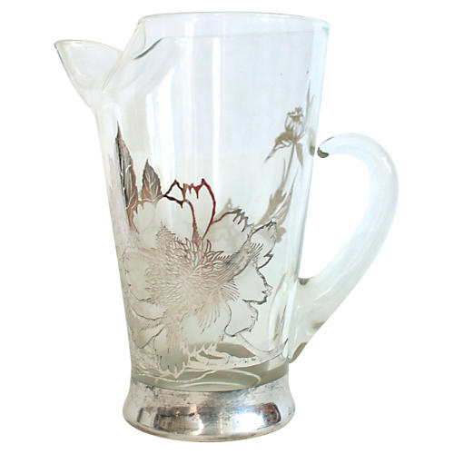 Sterling Silver Decorated Pitcher