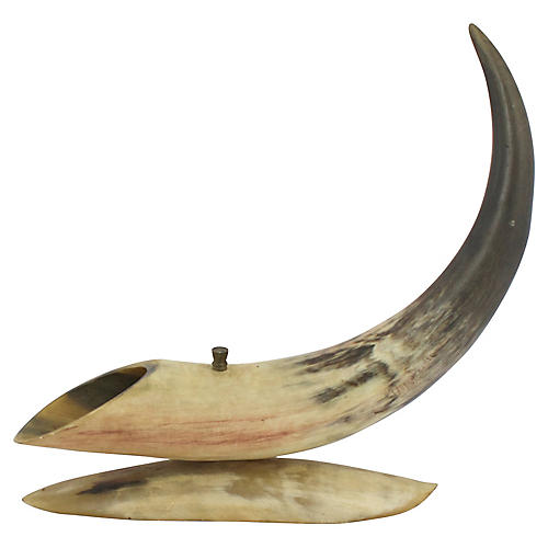 Antique Horn Sculpture