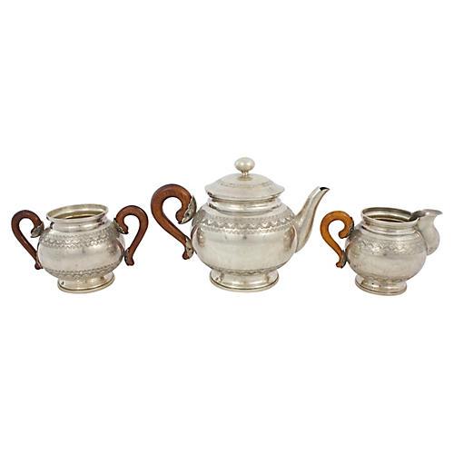 Silver-plate Tea Set, 3 Pcs