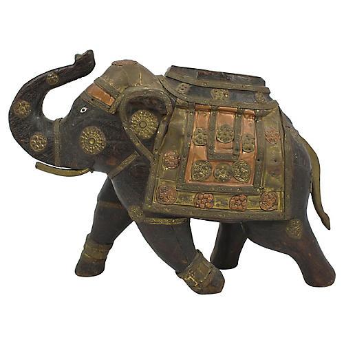Carved Wood Elephant