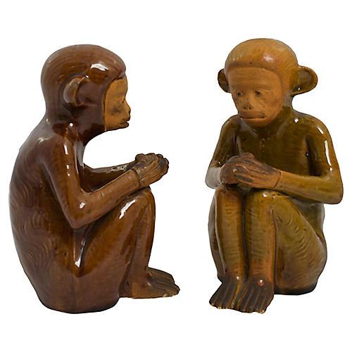 Handmade Pottery Monkeys, Pr