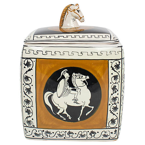 Italian Classical Pottery Box