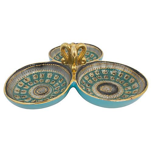 Italian Sgraffito Pottery Catchall