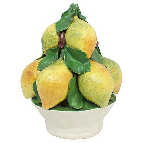 Italian Pottery Lemon Topiary