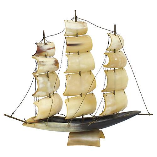 Italian Horn Ship Model