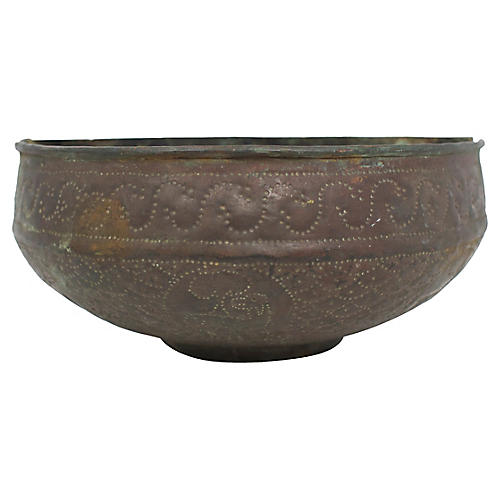 Egyptian Copper Wall Planter