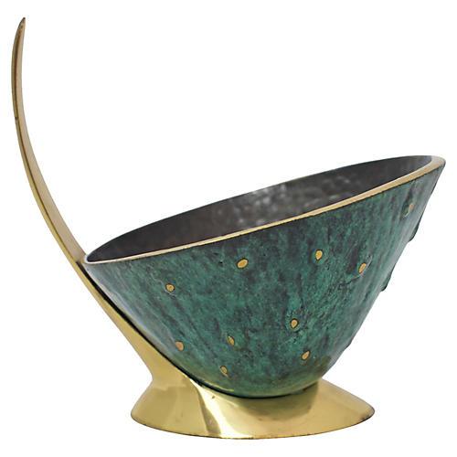 Mid-Century Modern Brass Catchall