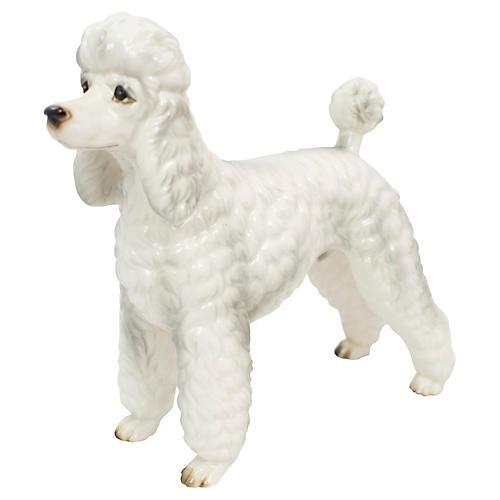 Hand-Painted Porcelain Poodle