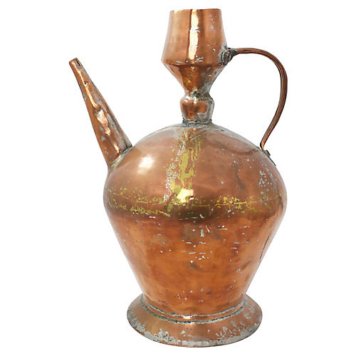 Handwrought Copper Pitcher