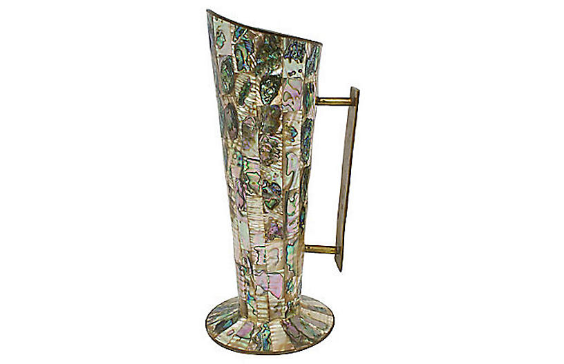 1950s Abalone Pitcher