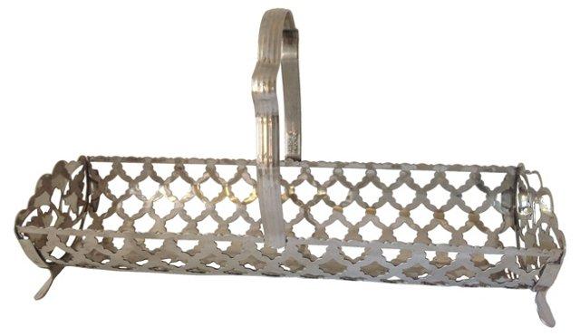 Handled Silverplate Basket