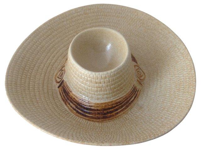 Ceramic Cowboy Hat Chip & Dip