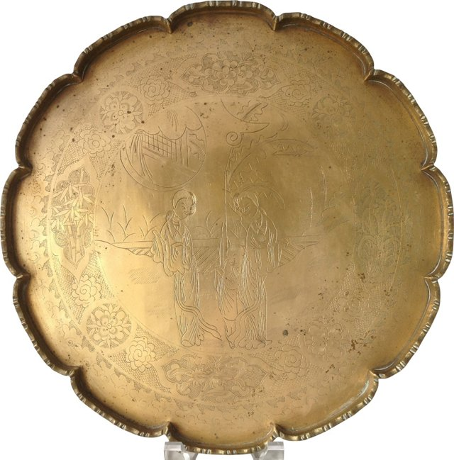 Solid Etched Brass Tray