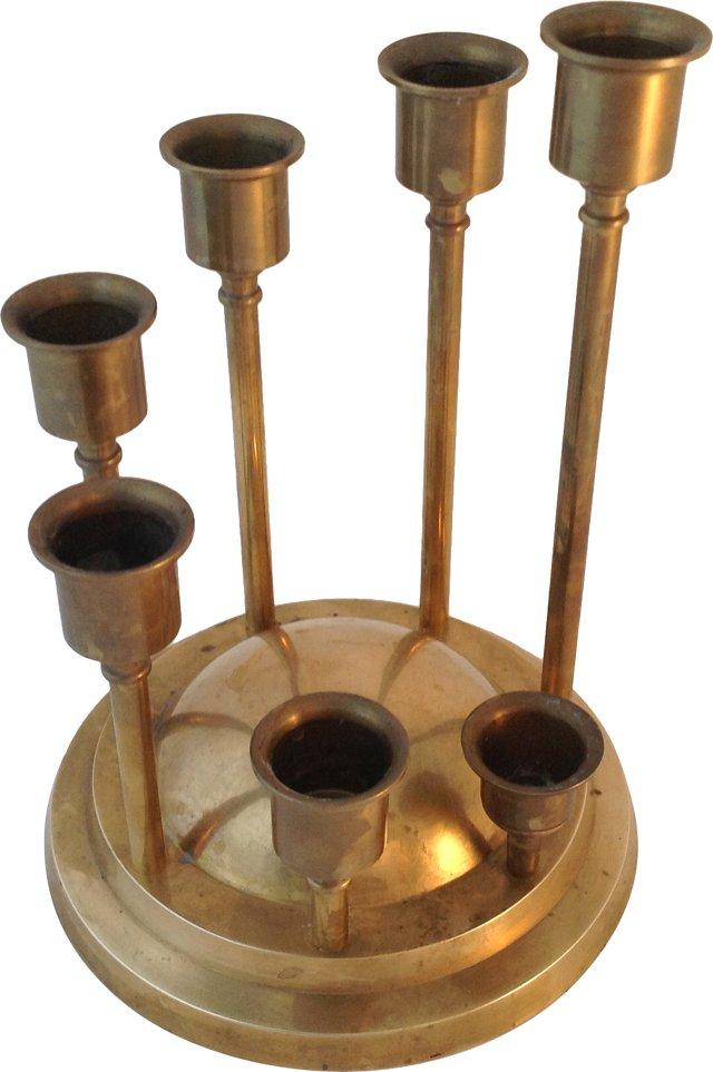 Brass Dome Candelabrum