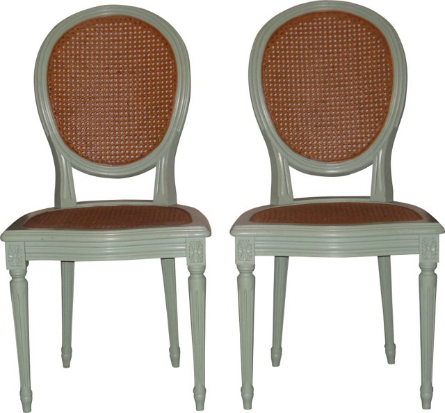 Adam-Style Side Chairs, Pair