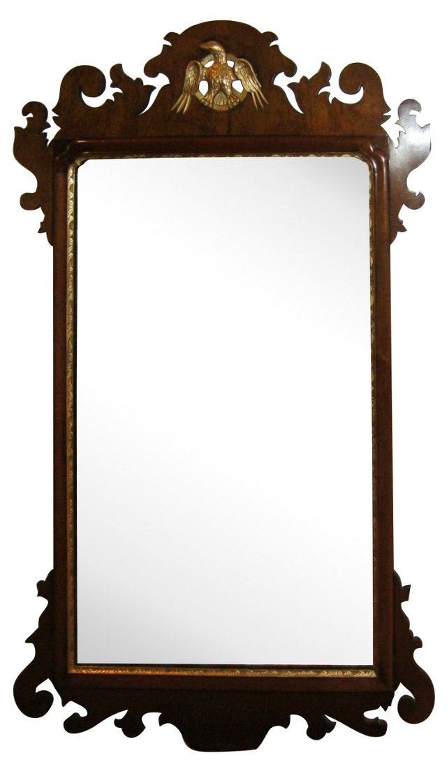English Chippendale-Style Mirror