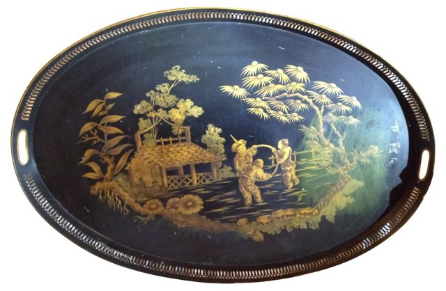 French Chinoiserie Tray