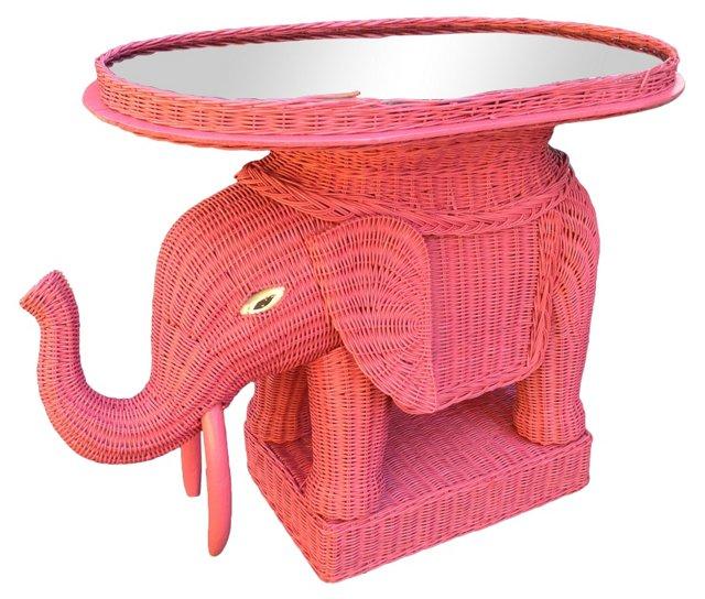 Hot Pink Elephant Garden Seat