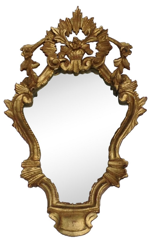 Carved Giltwood Italian Mirror