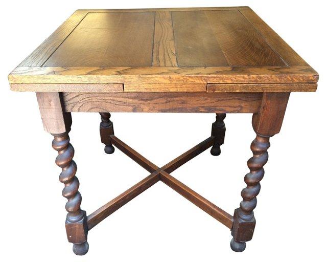 English Oak Expandable Dining Table