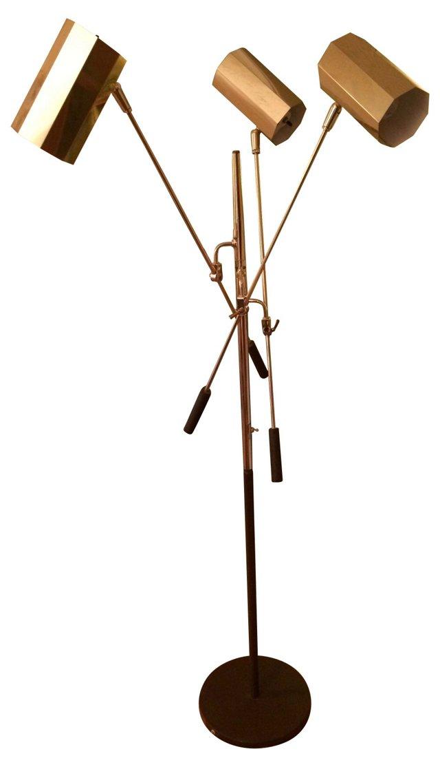 Midcentury Italian Brass Floor Lamp