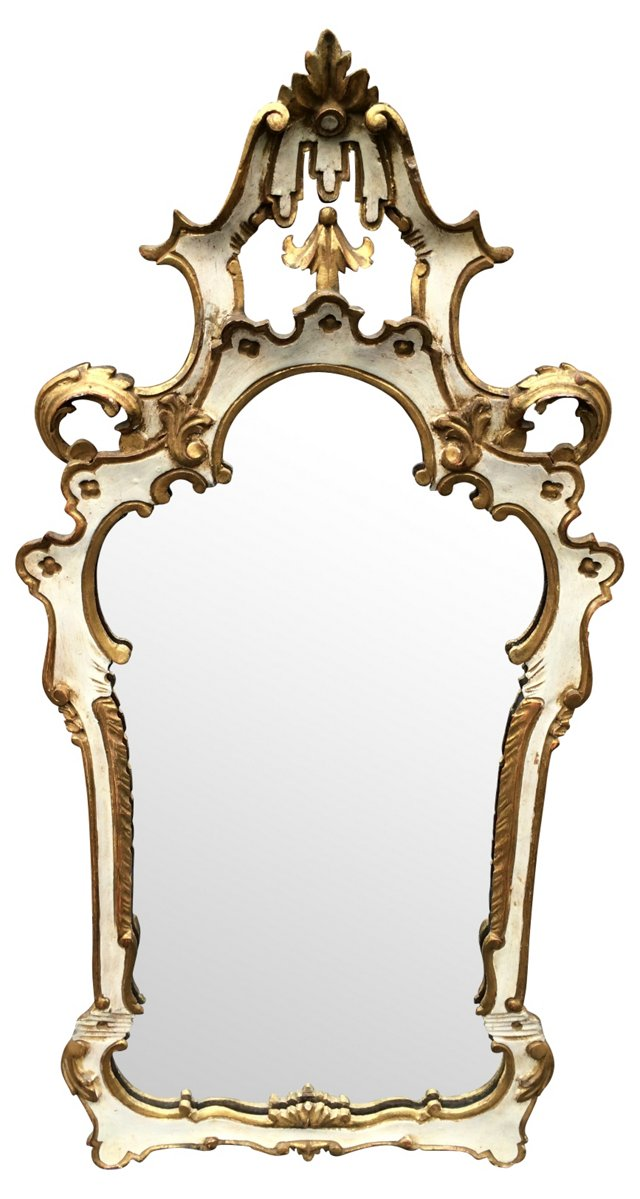 Hand-Carved Gilded Italian Mirror