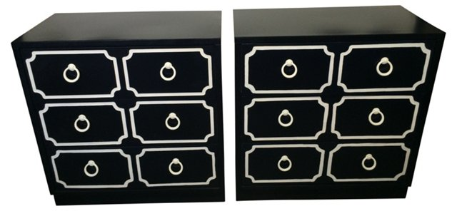 Dorothy Draper-Style Chests, Pair