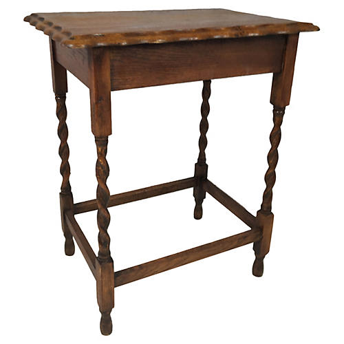 Antique English Oak Pie-Crust Table