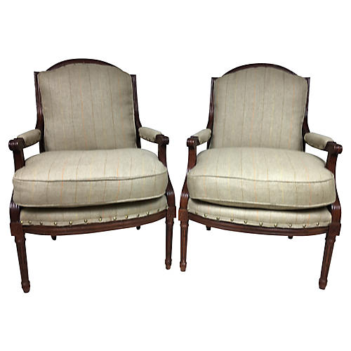 French-Style Chairs by Baker, S/2