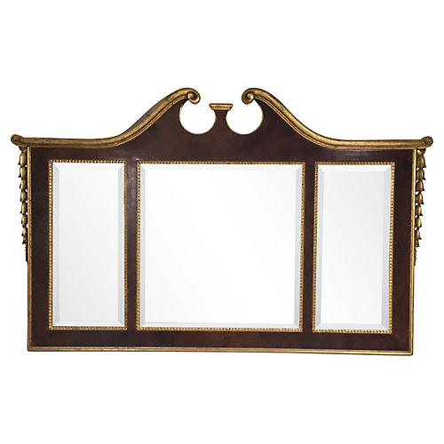 Carved Italian LaBarge Mantel Mirror