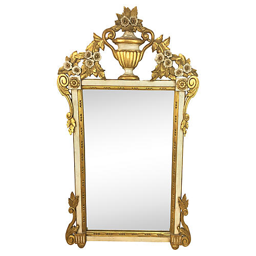 1960s Carved Giltwood Italian Mirror