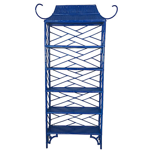 1960s Lacquered Pagoda Etagere