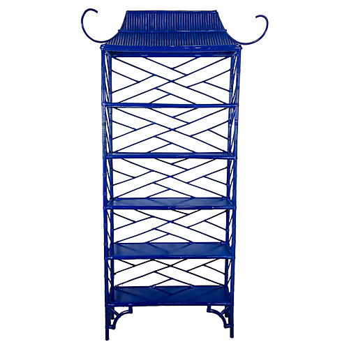 Lacquered Chinoiserie Pagoda Etagere