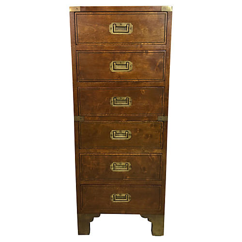 1950s French Campaign Style Chest