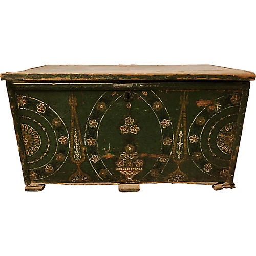 18th Century Painted Blanket Chest