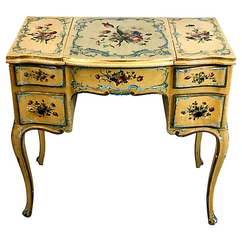 Hand Painted French Vanity