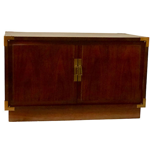 1970s Campaign Style Trunk Table