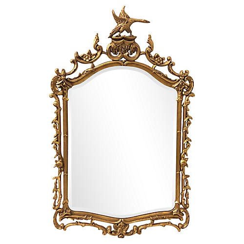 Chippendale-Style Giltwood Mirror
