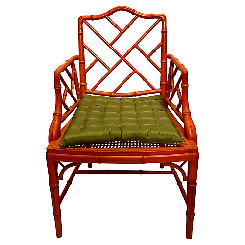 Faux Bamboo Chinese Chippendale Chair