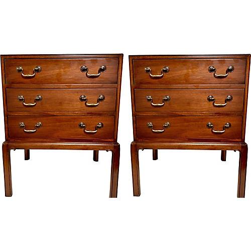 Smith & Watson Mahogany Chests Tables,2