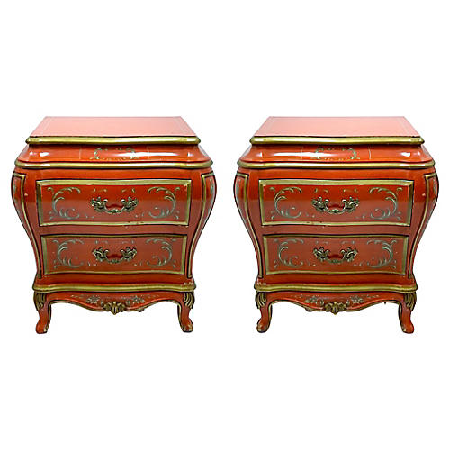 Karges Chinoiserie Bombay Chests, Pair