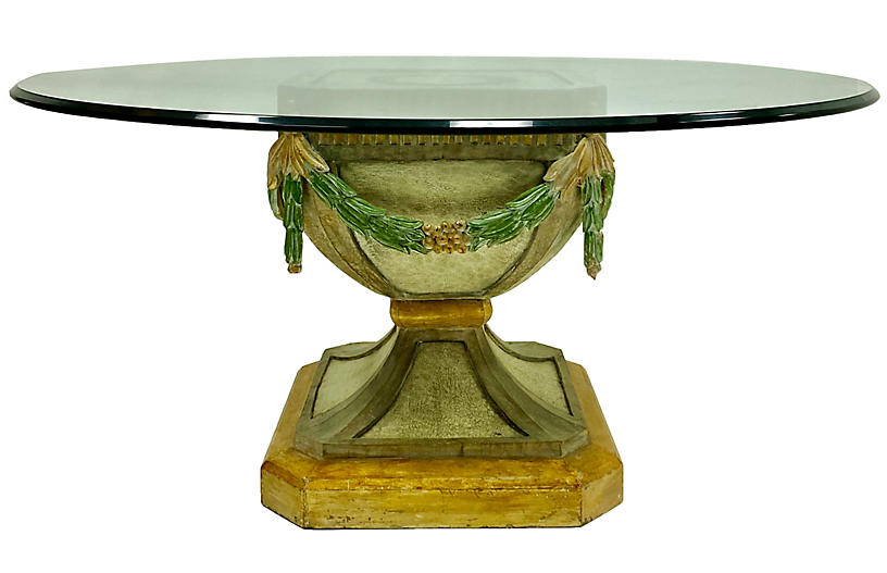 French Carved Pine Center / Dining Table
