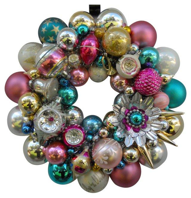 Mercury Glass Ornament            Wreath