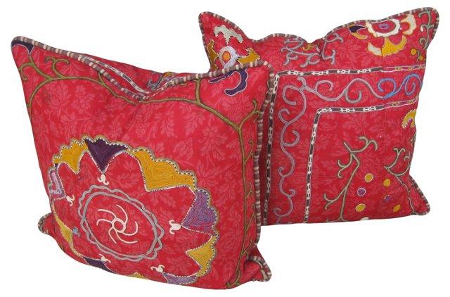 Suzani Pillows, Pair