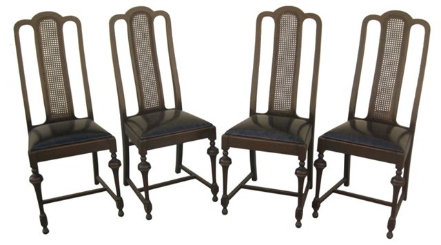Cane-Back Side Chairs, S/4