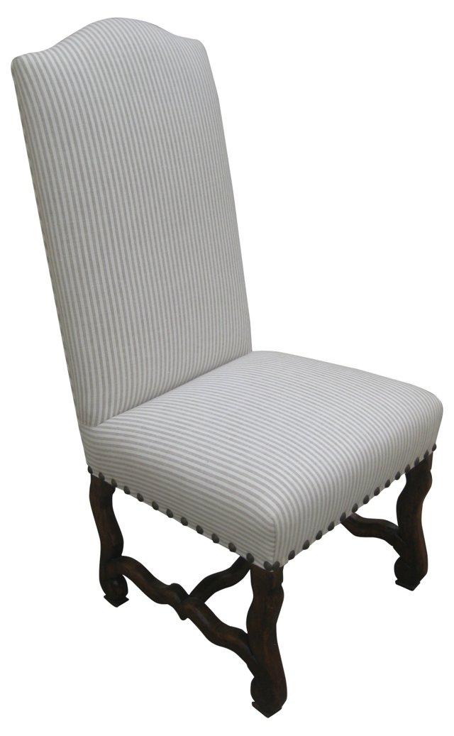 Tall Back Chair W/ Linen