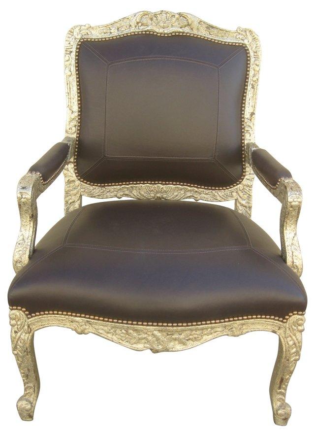 Custom Armchair w/ Leather