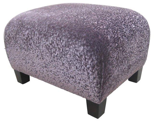 Ottoman w/ Purple   Velvet
