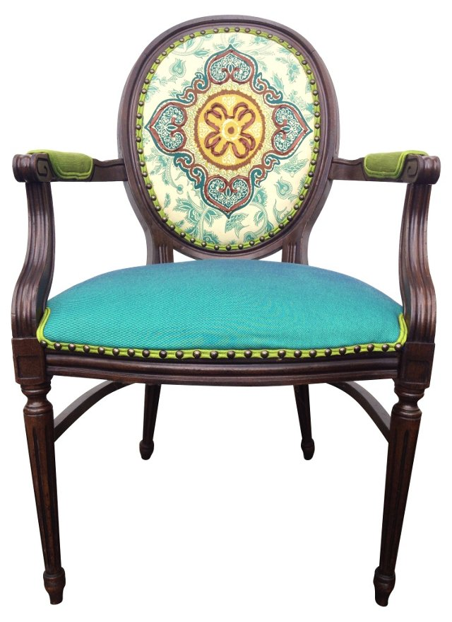 French-Style Upholstered    Chair